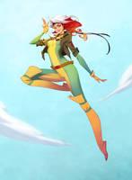 Rogue from X-Men 92 cartoon by AmeliaVidal