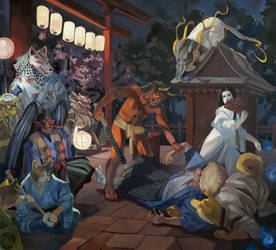 Night of the Yokai by gavi-gavi