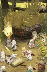 Nesting Chocobo by gavi-gavi