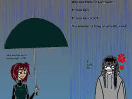 Nice weather huh? (B-day Gift to xMadame-Macabrex) by The-Metal-Maniac