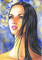 Watercolor portait by Libfly