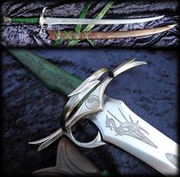 Warder'sBlade - Heron Marked sword by Fable Blades by Fableblades