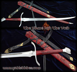 The Flame and the Void - Heron Mark Sword by Fable by Fableblades