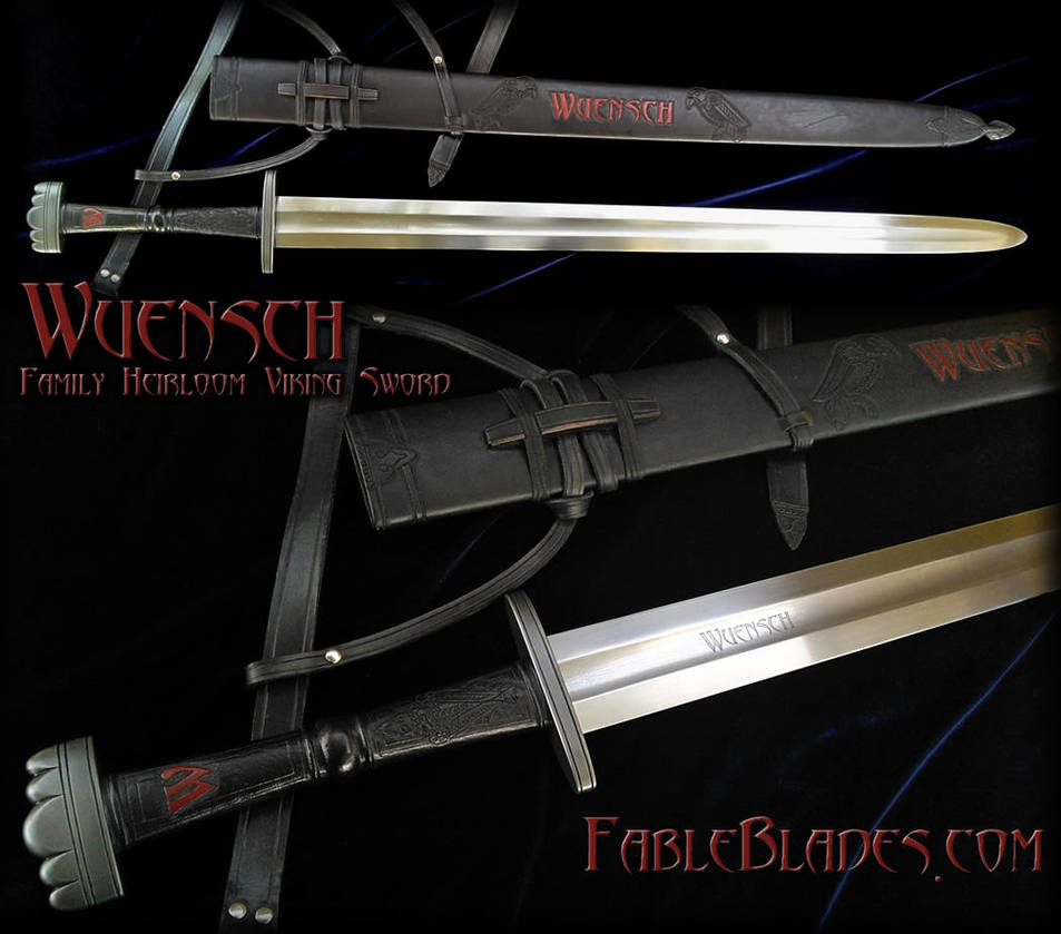 Heirloom Viking Sword for the Wuensch Family by Fableblades