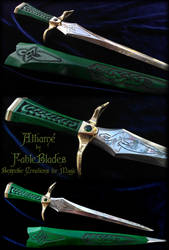Emerald Green Athame by Fableblades