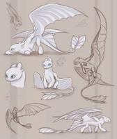 Light Fury Sketch Bunch by Lafaleth