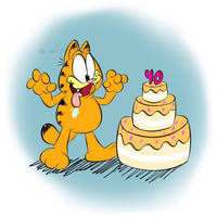 Garfield turns 40! by the-fire-prince
