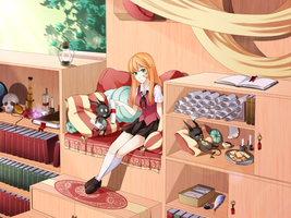 Library by Meli-Lusion