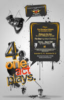4 one act plays poster by Ecstatic-ectsy