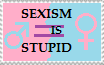 Sexism is Stupid stamp by pommyman