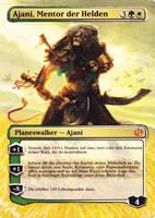 Borderless Ajani, Mentor of Heroes by Serafiend