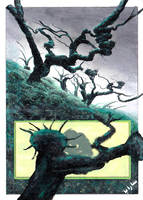 full-art 7th Edition Forest by Serafiend