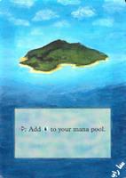 Altered 4th Edition Island by Serafiend