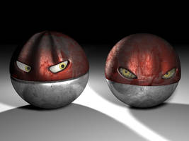 Two Realistic Voltorb by FinnAkira