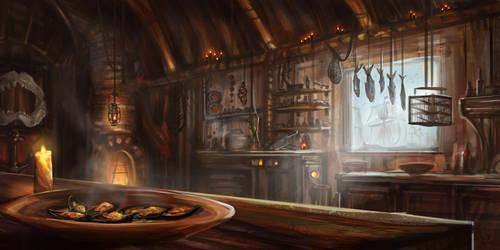 Seaside Tavern Kitchen by ruoyuart