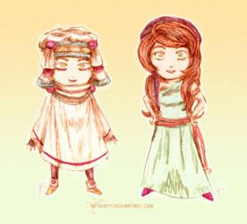 Chibis - Elltia and Katagro by neshirys