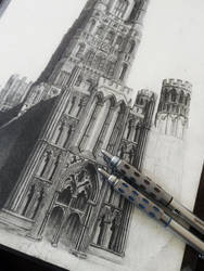 Ely Cathedral progress by ianmckendrick