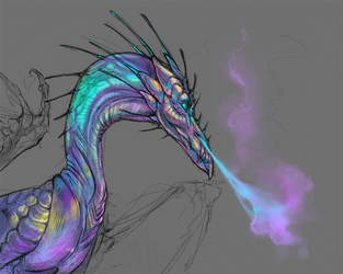 Rainbow Dragon by LiLaiRa
