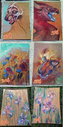 Traditional oil pastel works for sale! by LiLaiRa