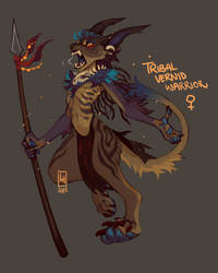 Tribal vernid warrior lady AUCTION by LiLaiRa