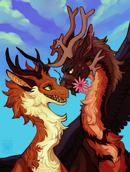 Fluffy Dragons in Love by LiLaiRa