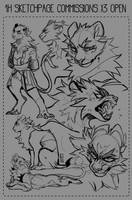 Sketchpage Commissions Open! by LiLaiRa