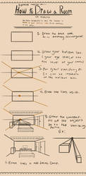 How to Draw a Room in One Point Perspective by MangoMendoza