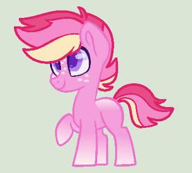 Pink Pony Boy Adopt (TAKEN) by Bizaardwolf