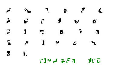 Irken Alphabet by Invader-Jim