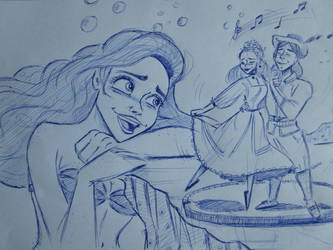 Ariel-ball pen sketch by SAVAPER