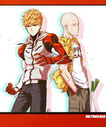 Genos and Saitama (11/10/15) by silverteahouse