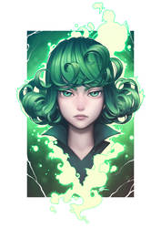 Miss Tatsumaki by silverteahouse