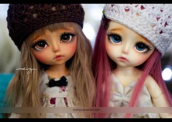 Two little vampires by AndrejA