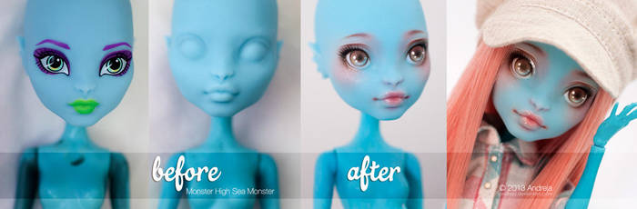 BeforeAfter + Youtube Video - MH Sea Monster by AndrejA