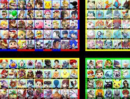 Super Smash Bros. Wii U / 3DS - Complete Roster by follyoftheforbidden