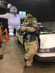 Me and the Ecto-1 by thieviusracoonus