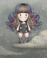 Rainbow Girl by gorjuss