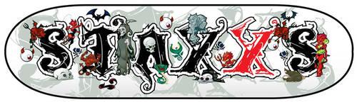 Staxxs Skateboard Gothic by WarBrown