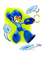 Mega Man by WarBrown