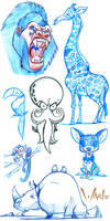 Animal Sketches by WarBrown