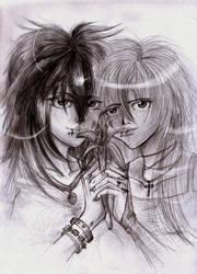 Miyavik and Shizuka by Ciepson