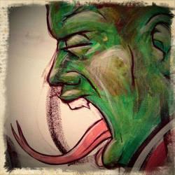 Snake Head Study by yammerskooner