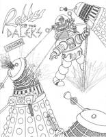 Robby the Robot VS The Daleks by Promus-Kaa