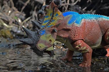 Pachyrhinosaur by CrazyAsylumClown