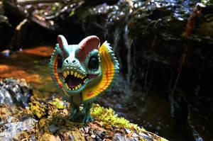 FUNKO Jurassic Park Dilophosaurus by CrazyAsylumClown