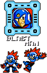 Blast Man 8-Bit by hfbn2