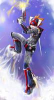 Rocket in the sky by lilrikku