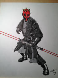 Darth Maul Commission by hoffmangler