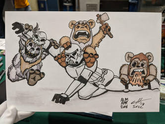 Wild Ewoks (Commission SVCC 2018) by hoffmangler