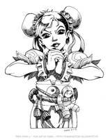 Teen Chun Li - Inked Version by Karafactory